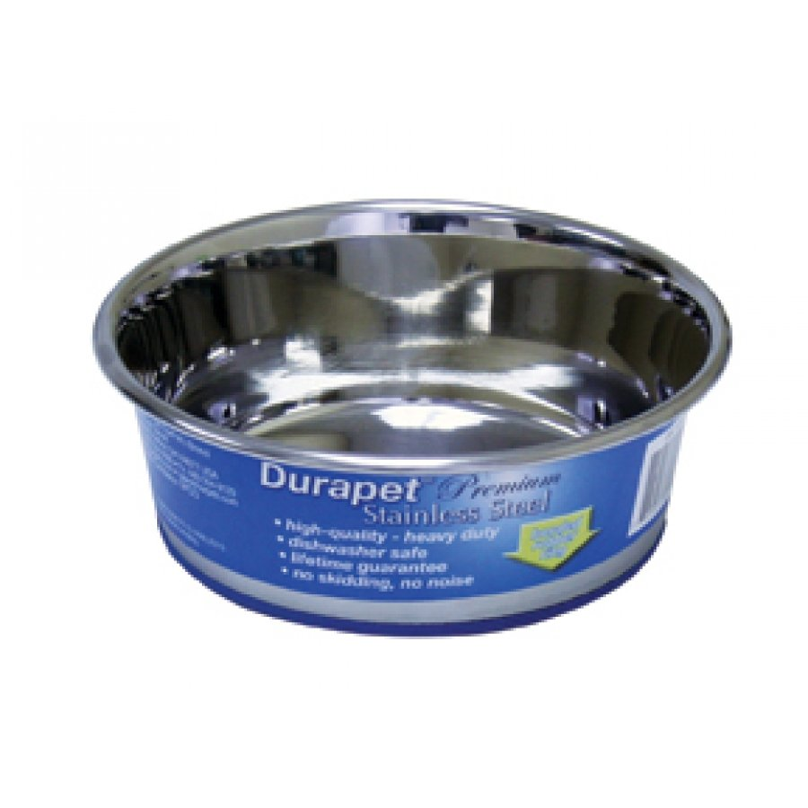 Durapet Stainless Steel Bowls For Dogs / Size 1.25 Qt