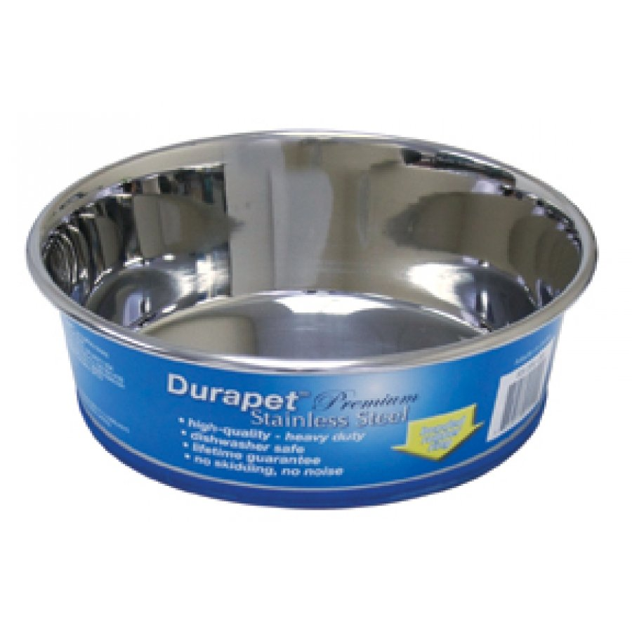Durapet Stainless Steel Bowls For Dogs / Size 2 Qt