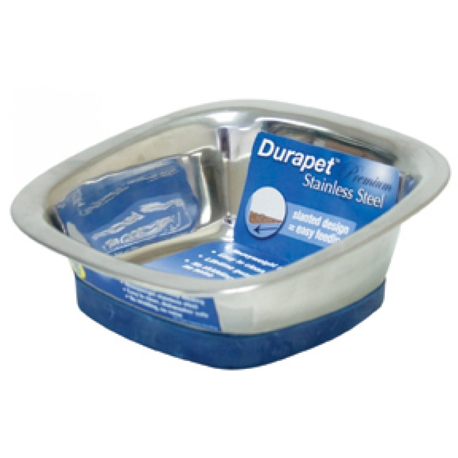 Durapet Square Dog Bowl / Size Small 16 Oz