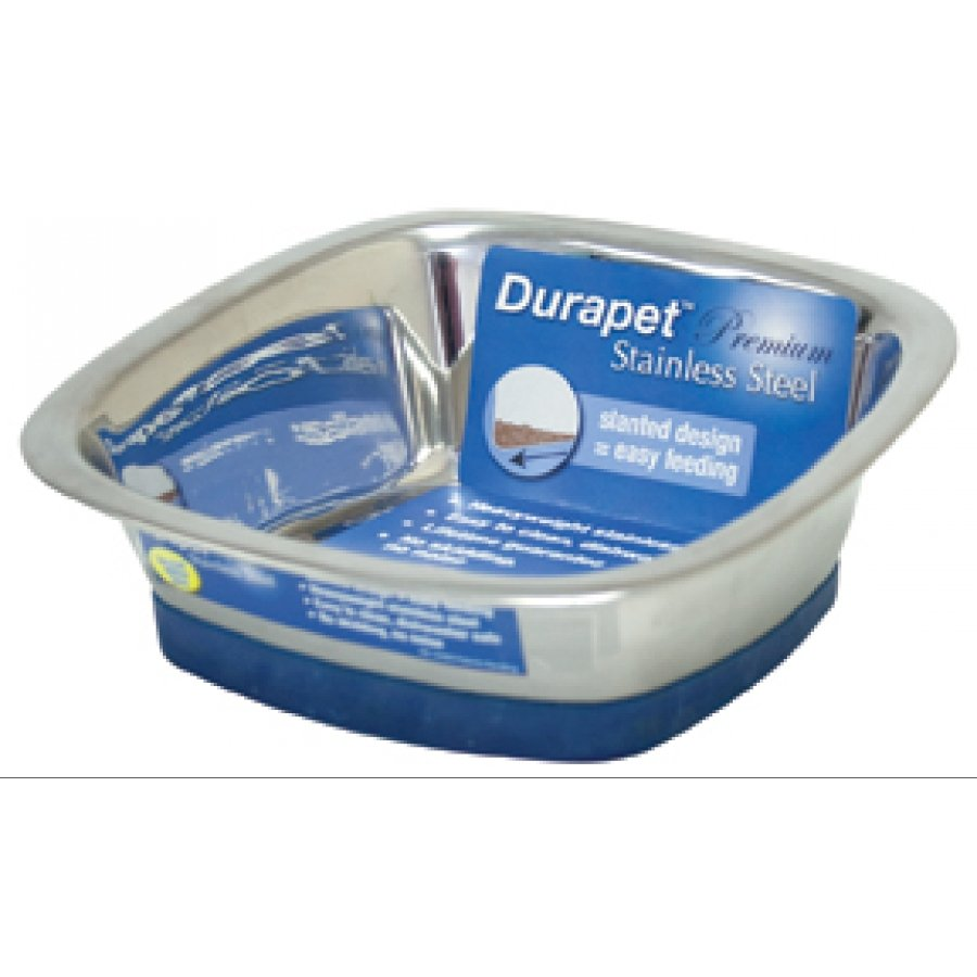 Durapet Square Dog Bowl / Size Medium 28 Oz