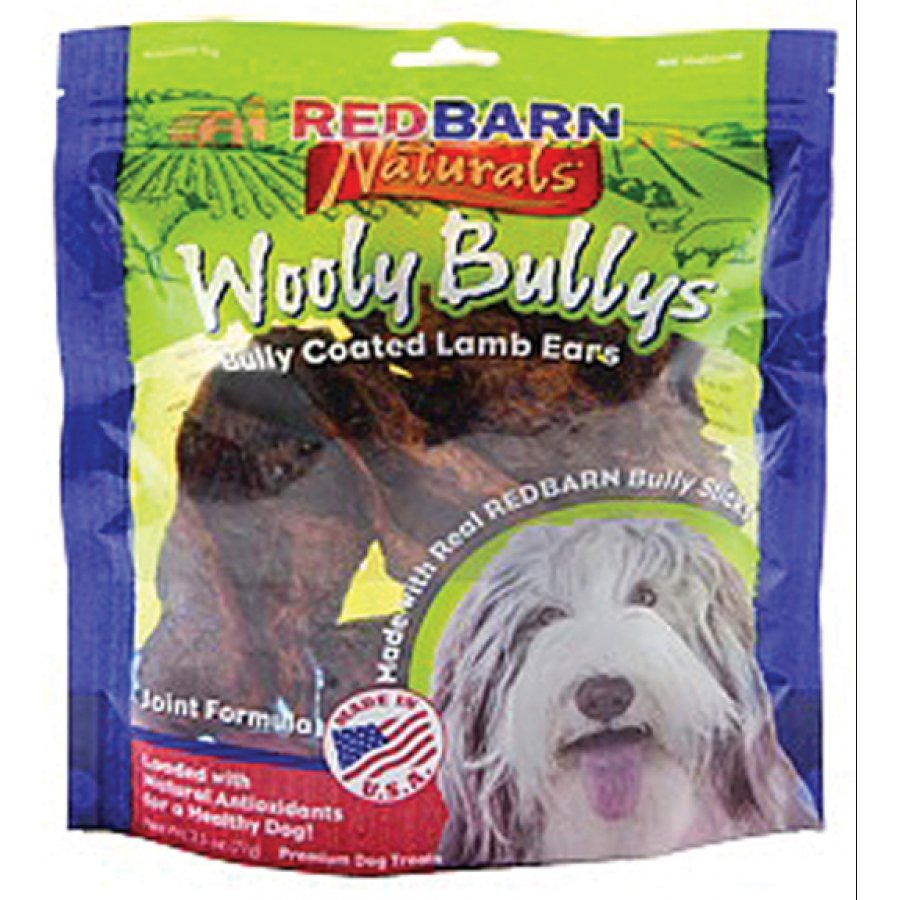 Natural Wooly Bullys Dog Lamb Ears
