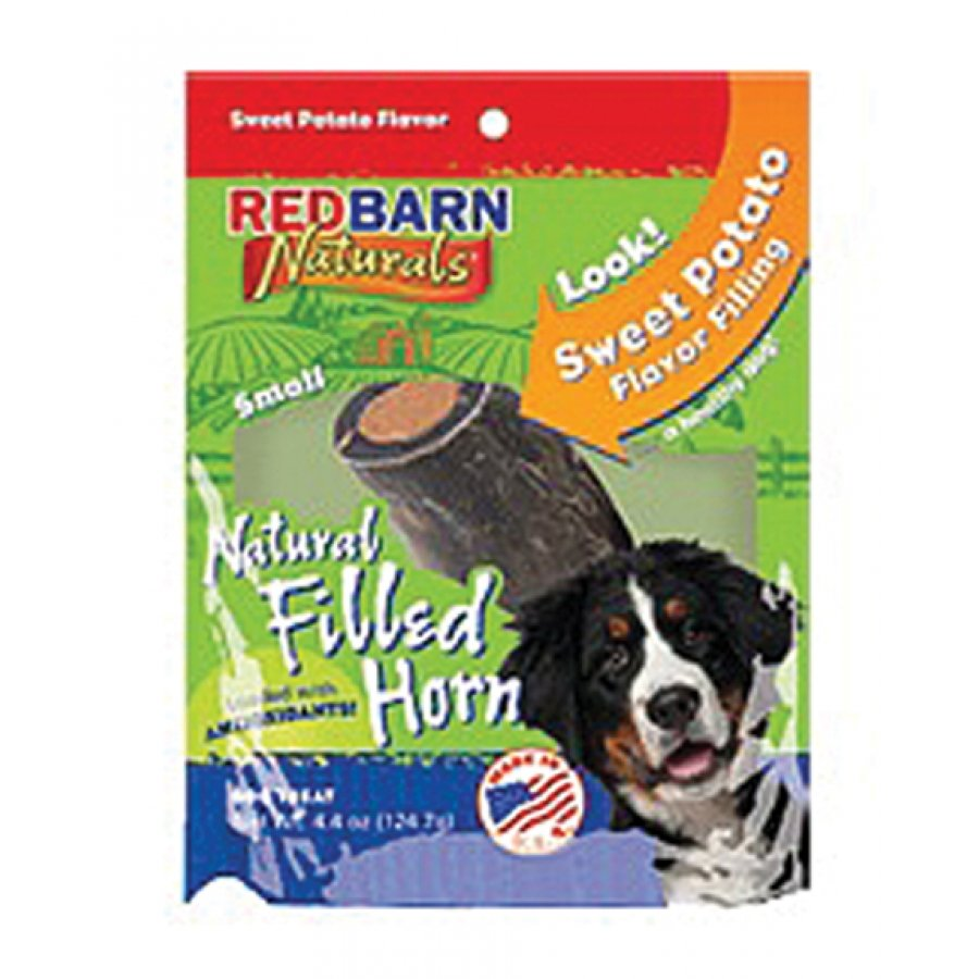 Natural Filled Horn For Dogs Sweet Potato