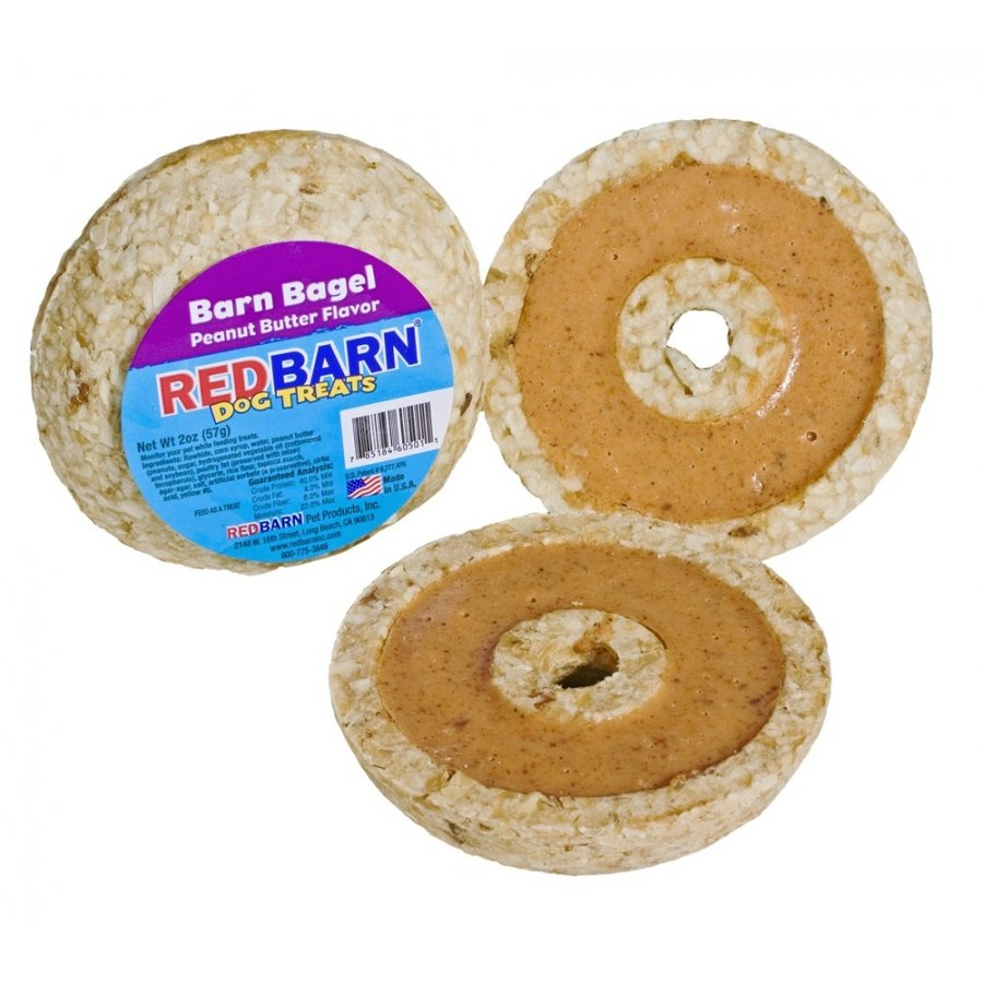 Barn Bagel Peanut Butter Dog Treats Case Of 30