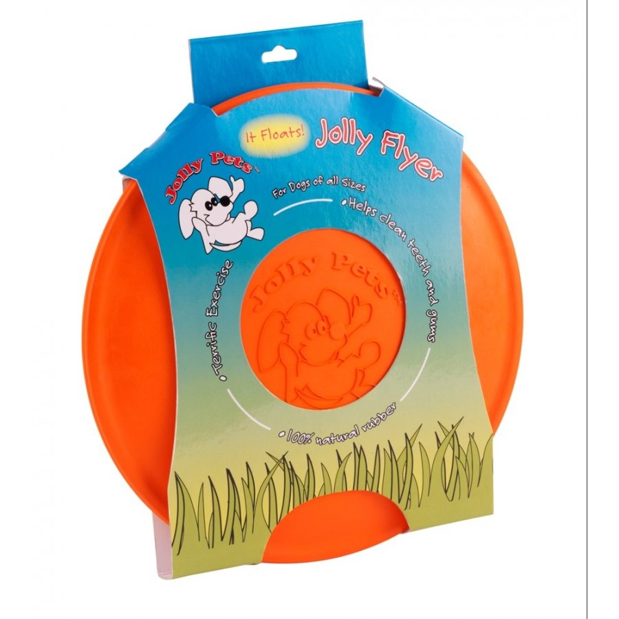 Jolly Flyer Floatable Dog Toy / Type Orange 9.5 In.