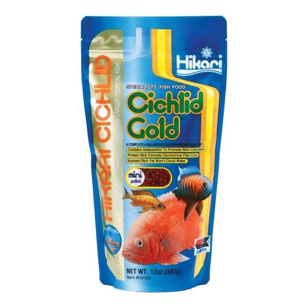 Sinking Cichlid Gold By Hikari / Size 12 Oz/mini Pellet