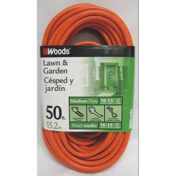 Outdoor Vinyl Extension Cord / Size (50 ft) Best Price