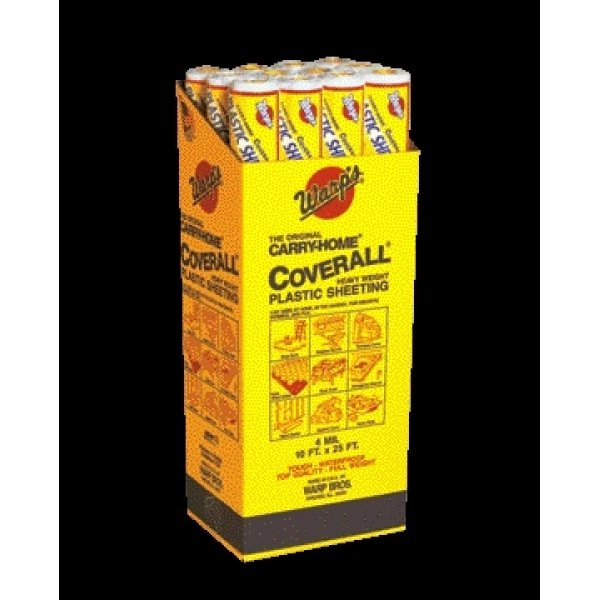 Poly Coverall Plastic Sheeting / Size (10 x 25 ft) Best Price