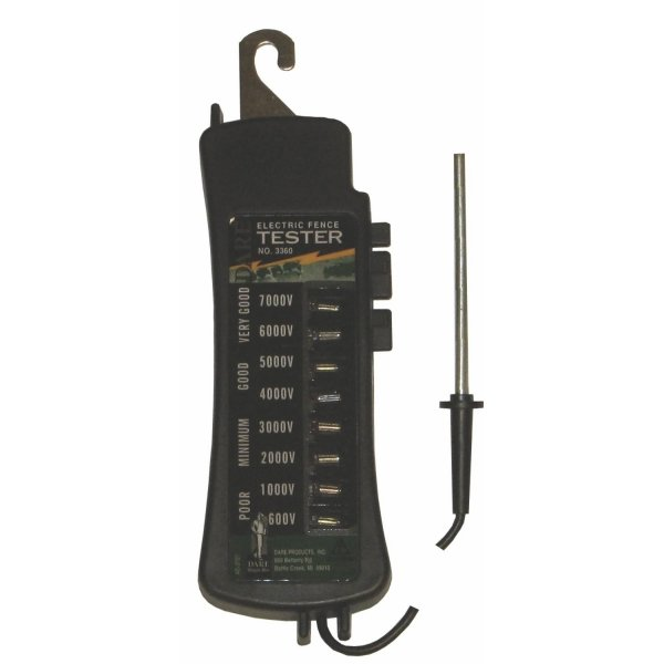 Eight Light Fence Tester 12x4 in Black Best Price