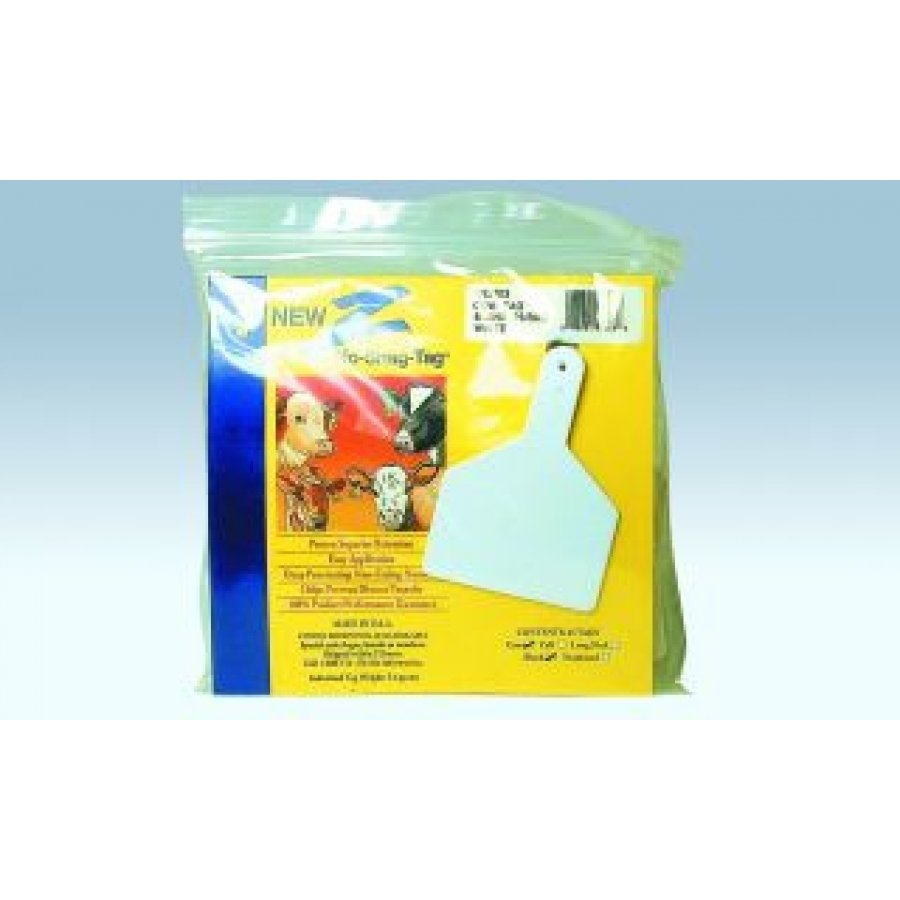 Z-Tag One-Piece Ear Tag for Cows / Color (White (Blank)) Best Price