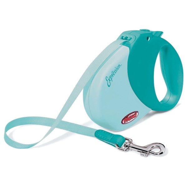 Expression Retractable Leash / Size (Small / Med - Turquoise) Best Price