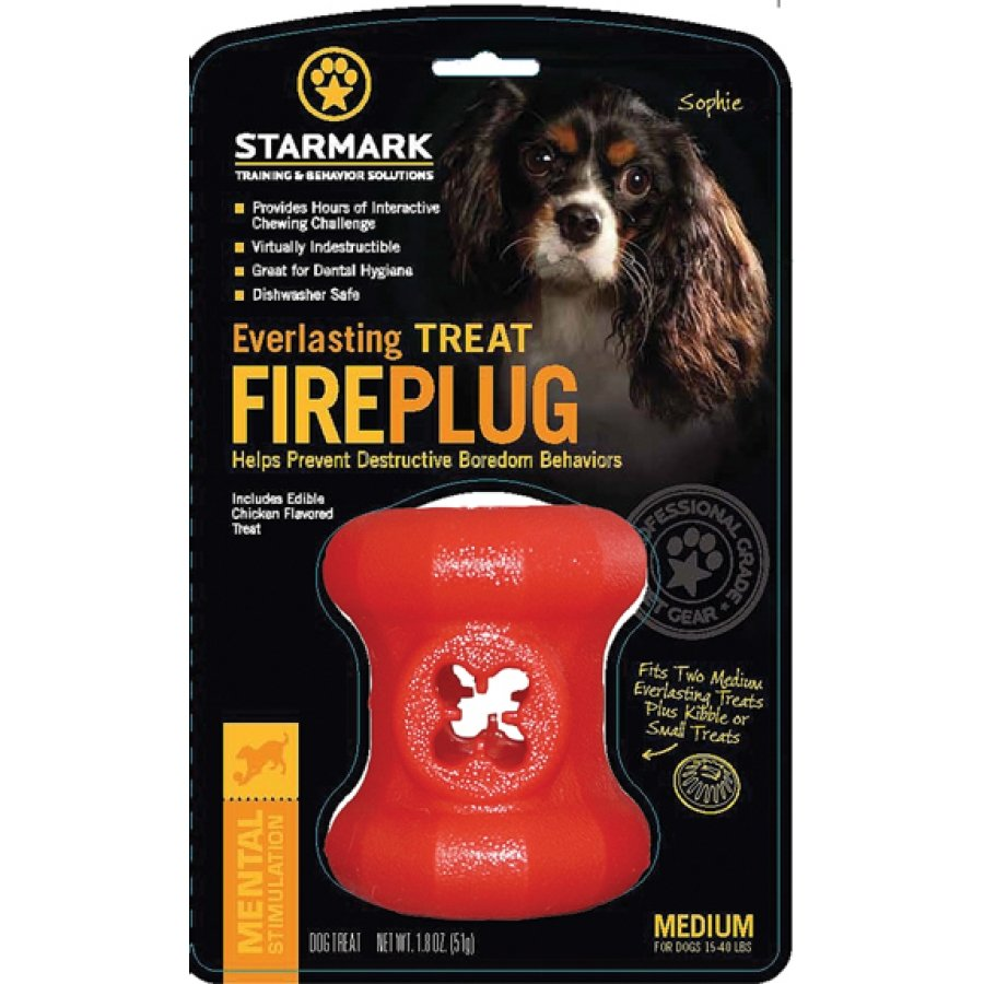 Everlasting Fire Plug Treat Dispenser For Dogs / Size Medium