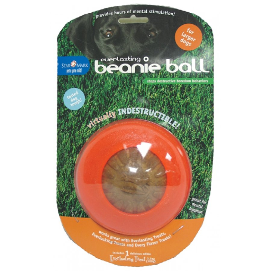Everlasting Beanie Ball Treat Dispenser For Dogs / Size Large