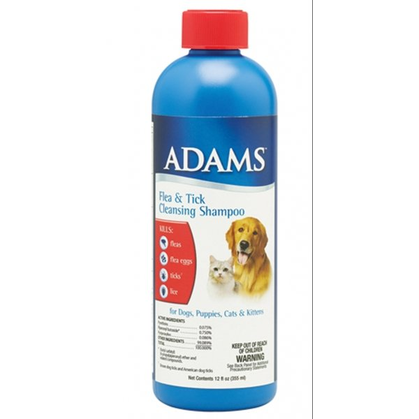 Adams Flea and Tick Pet Shampoo With Precor - 12 oz. Best Price