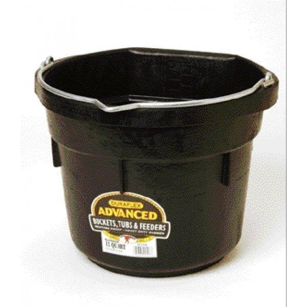 Duraflex Rubber Flatback Bucket  / Size (12 qt.) Best Price