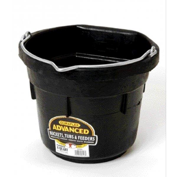 Duraflex Rubber Flatback Bucket  / Size (8 qt.) Best Price