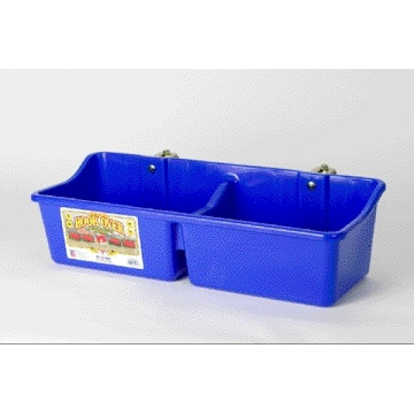 Hookover Feeder with Divider for Horses / Color (Blue) Best Price