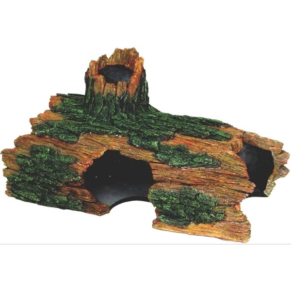 Hollow log aquarium ornament xxlarge for Aquarium log decoration