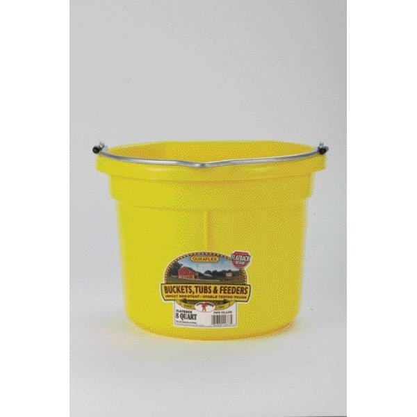 8 Qt. Little Giant Flatback Bucket / Color (Yellow) Best Price