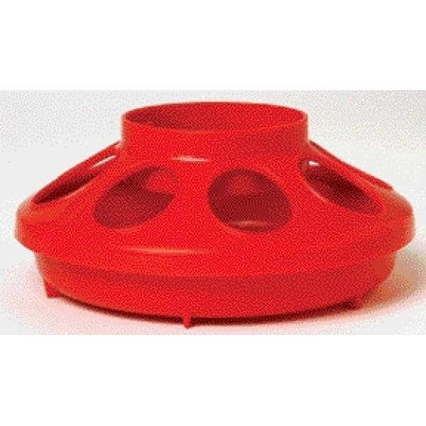 Plastic Poultry Feeder Base / Color (Red) Best Price