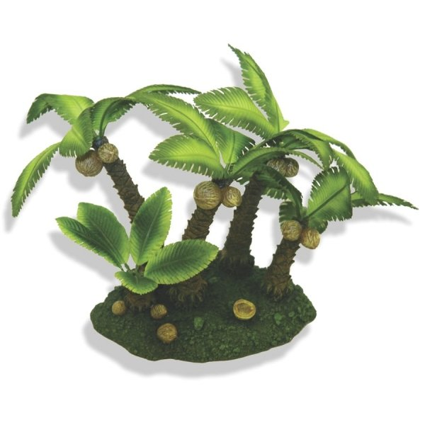 Palm Tree Island Aquarium Ornament / Size (Medium) Best Price