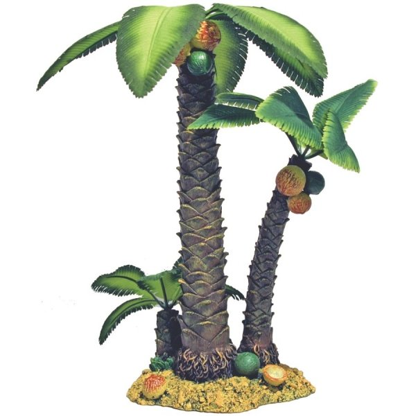 Palm Tree Island Aquarium Ornament / Size (Large) Best Price