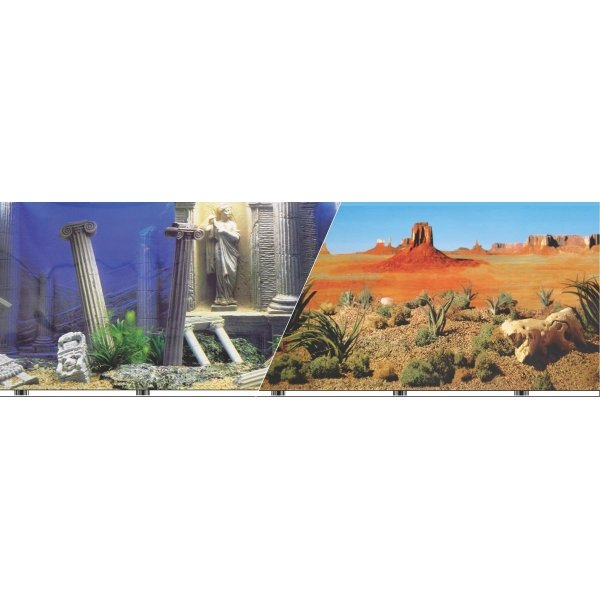 Double Sided Aquarium Backgrounds / Type (Atlantis / 19 in) Best Price