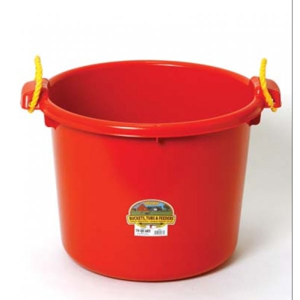 70 Quart Muck Tub for Barns and Gardens / Color (Red)