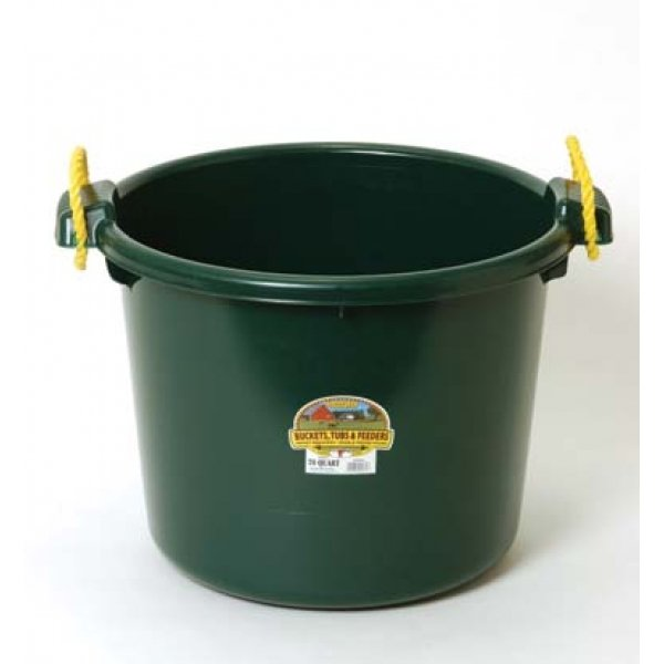 70 Quart Muck Tub for Barns and Gardens / Color (Green)