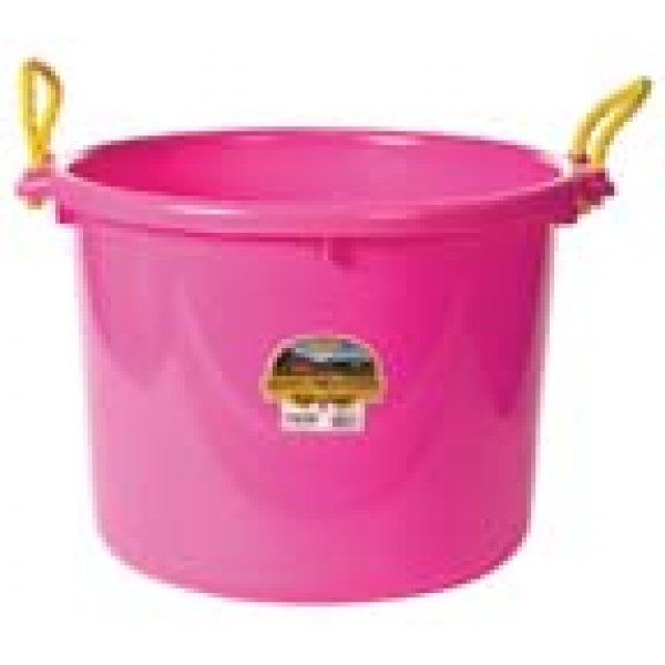 70 Quart Muck Tub for Barns and Gardens / Color (Hot Pink) Best Price