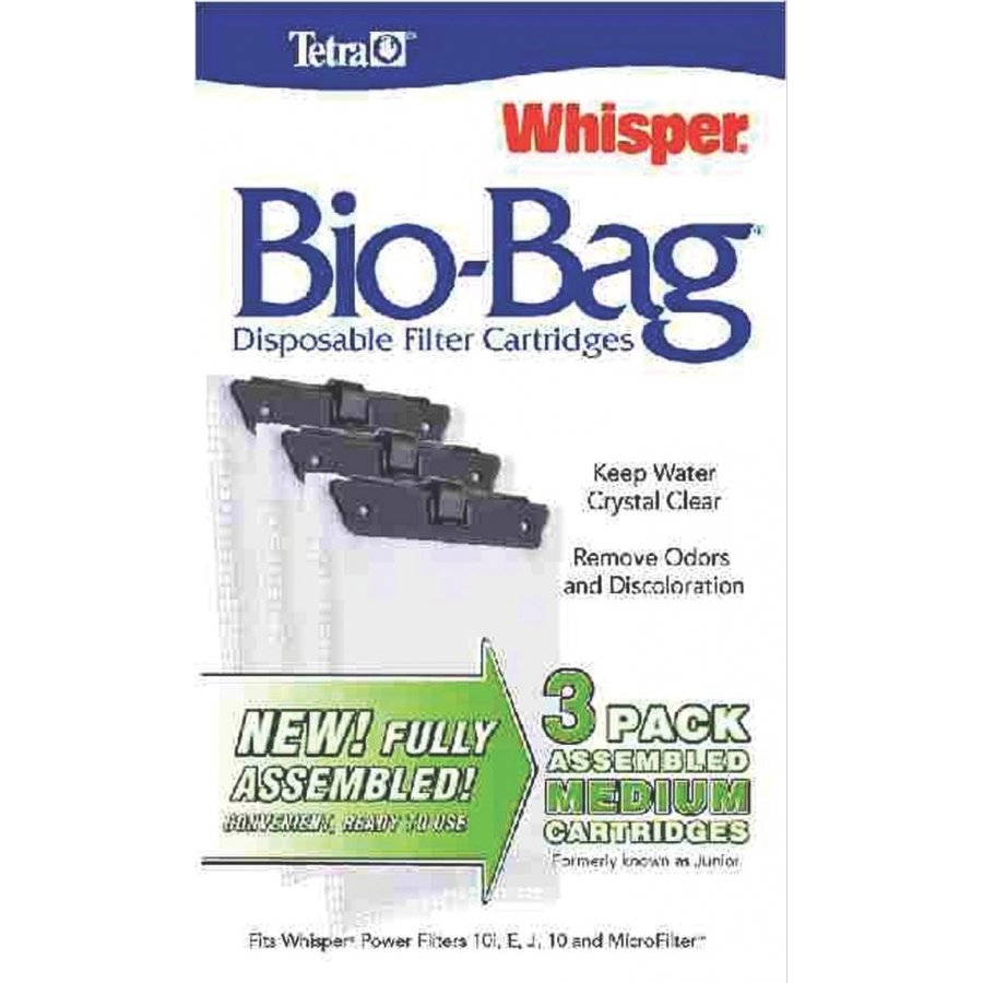 Whisper Bio Bag Cartridges / / Medium/3pk/assembled