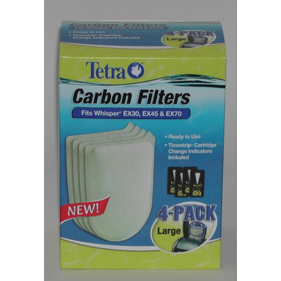 Whisper Ex Replacement Carbon Filter Cartridge / Type Large/4pk