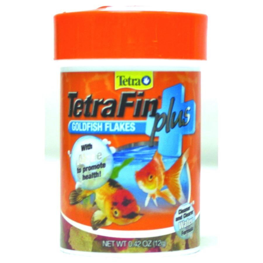 Tetrafin Plus Goldfish Flakes / Size 0.42 Oz