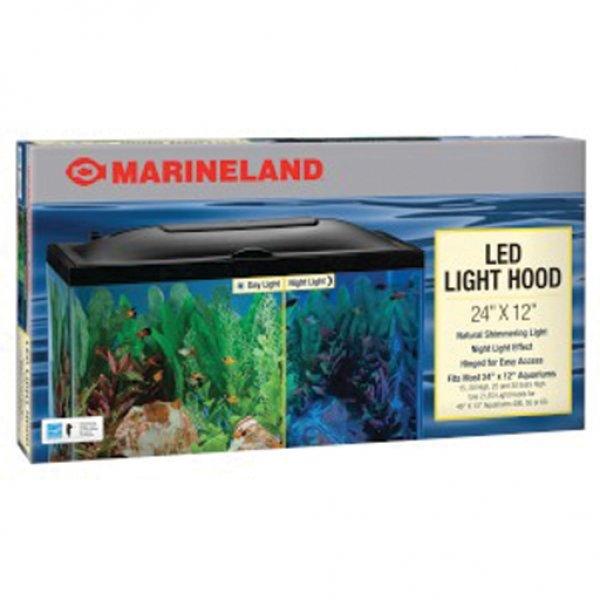 Led Aquarium Hood / Size 24 X 12 In
