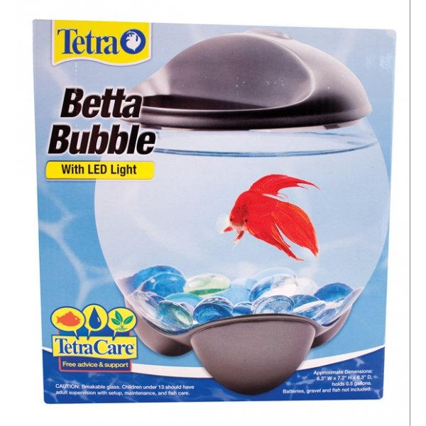 Betta Bubble Betta Bowl With Led Light .5 Gal.