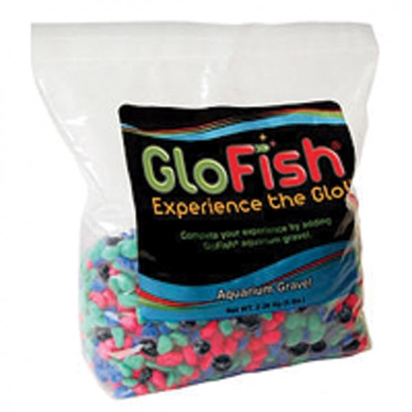 Glofish Aquarium Gravel Fluorescent Highlights 5 Lbs Each Case Of 6