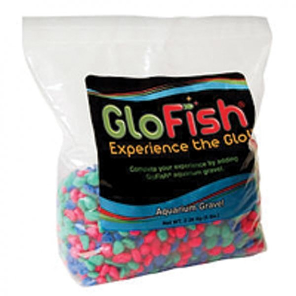 Glofish Aquarium Gravel Multi Fluorescent 5 Lbs. Ea. Case Of 6