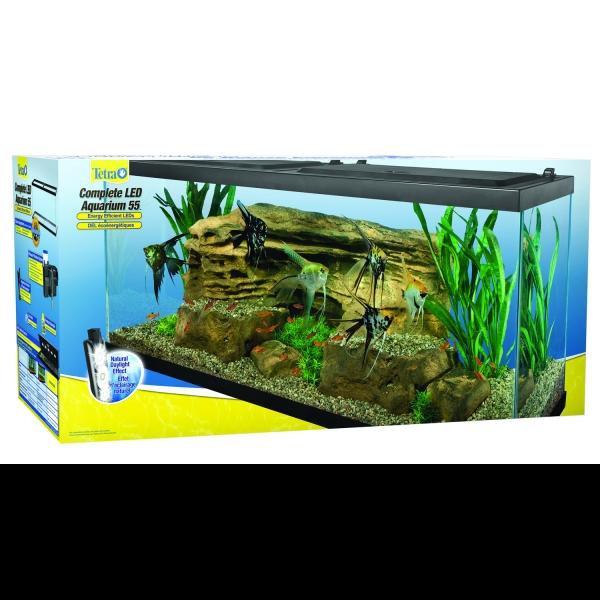 Tetra complete deluxe led aquarium kit 55 gallon aquarium for 55 gallon fish tank kit