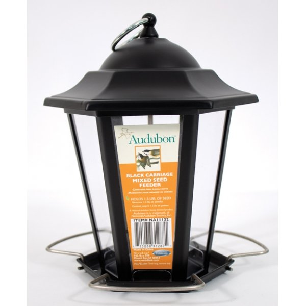 Audubon Black Carriage Mixed Seed Feeder 1.5 Lb