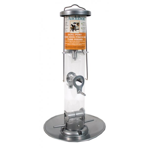 Audubon Dual Port Mixed Seed/ Finch Mix Tube Feeder