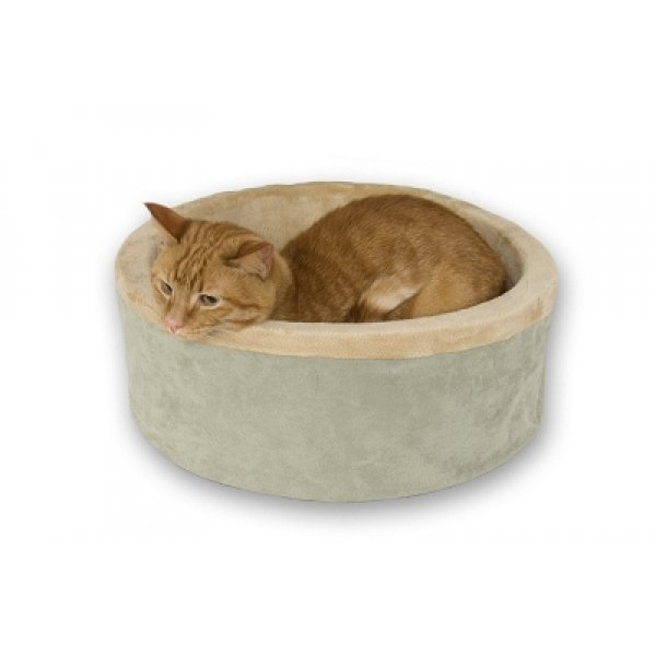 Thermo Kitty Bed Heated Cat Bed / Color Sage 16 In.
