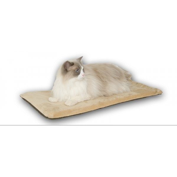 Thermo Kitty Mat Heated Cat Bed / Color Sage