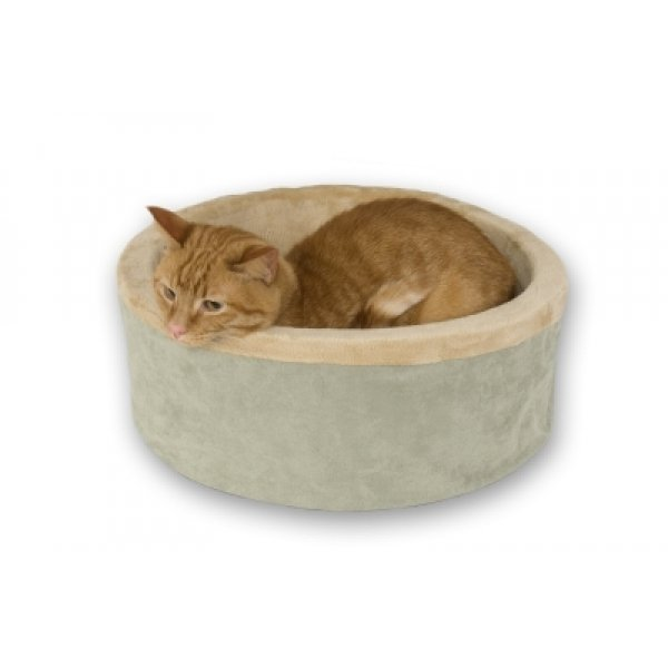 Thermo-Kitty Bed - Heated Cat Bed / Color (Sage / 20 in.) Best Price