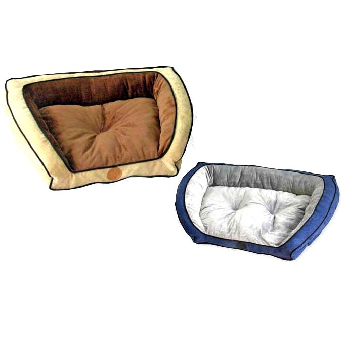 Pet Bolster Couch / Size (21 x 30 in / Blue)