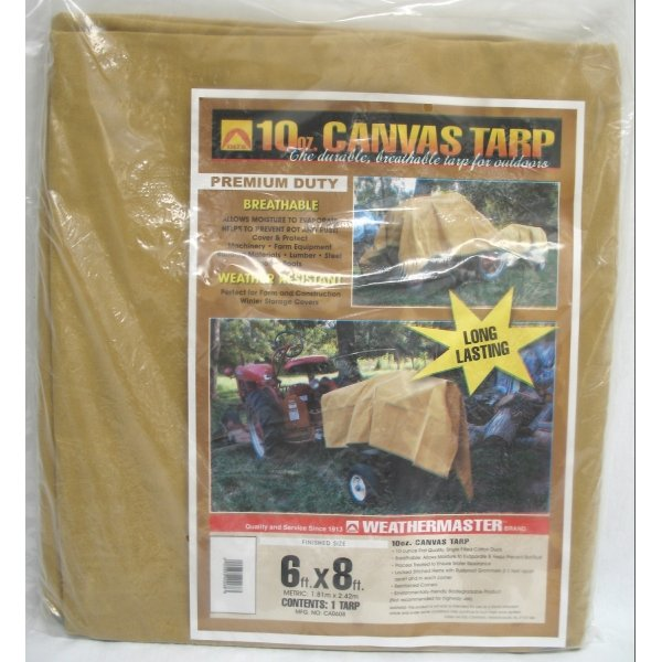 Canvas Tarp / Size (6 x 8 ft.) Best Price