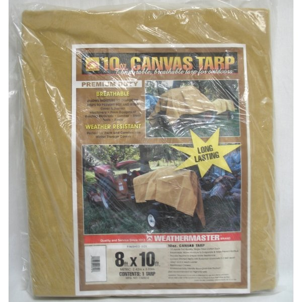 Canvas Tarp / Size (8 x 10 ft.) Best Price