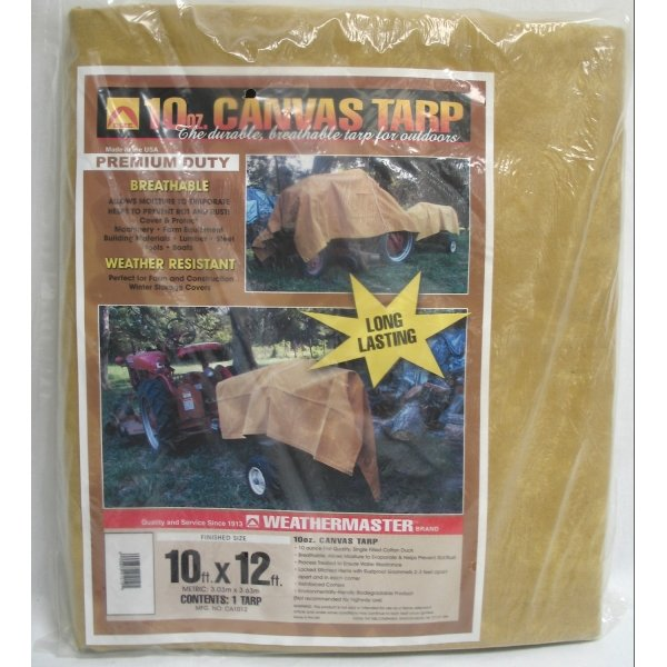 Canvas Tarp / Size (10 x 12 ft) Best Price