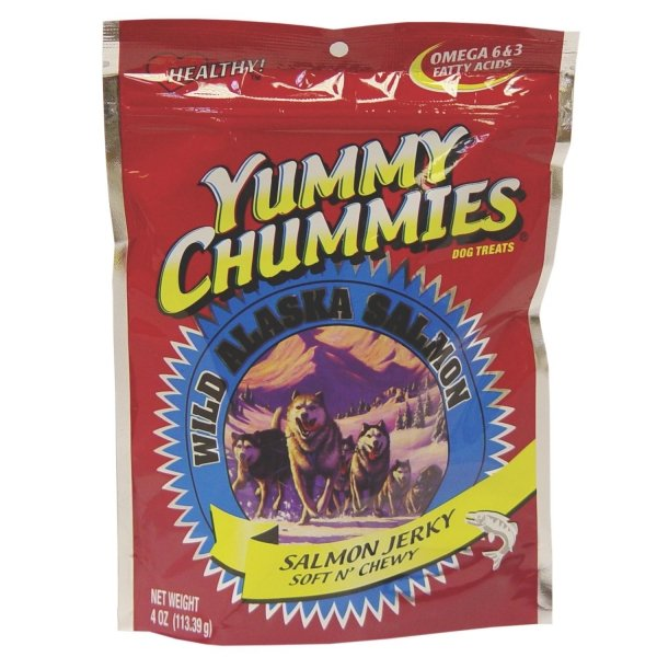 Yummy Chummies Salmon Dog Treat Soft N Chewy / Size 4 Oz.