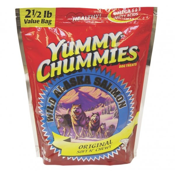 Yummy Chummies Salmon Dog Treat Soft N Chewy / Size 2.5 Lbs.