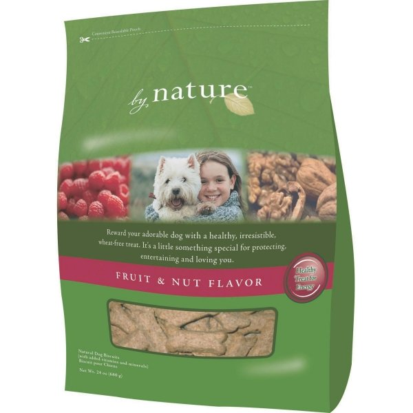 By Nature Dog Biscuits 24 Oz. / Flavor Fruit And Nut