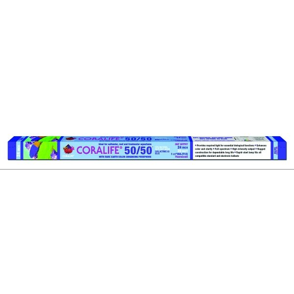 Coralife 50/50 Fluorescent Lamp / Size 24 In. T8